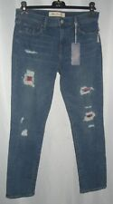 Pendleton Jeans By Gap Straight Leg Destroyed Plaid Grunge Distressed 28 Patch S