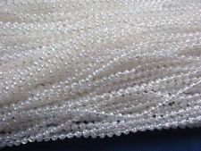 24y 4MM Faux Pearl Plastic BEADS on a String Craft-Shinny White HW006