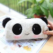 Cute Panda Soft Plush Pencil Case Pen Pocket Cosmetic Makeup Bag Pouch Zipper l