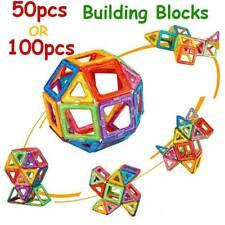 Magnetic Building Blocks Tiles Kids' Educational Set Construction 3D Magic Toys