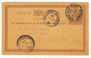 JAMAICA 1895 Superb *Half Way Tree* CDS Stationery Card {samwells-covers}AB200