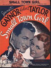 Small Town Girl 1936 Janet Gaynor Robert Taylor Sheet Music