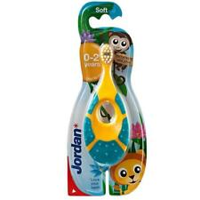 Jordan 0-2 Years Baby Toothbrush - easy to hold soft bristle teething ring kids