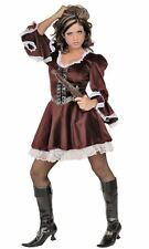 PIRATE DRESS western renaissance sexy womens halloween costume steampunk MEDIUM