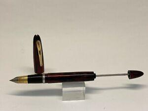 Early Working Sheaffer Red Stripe VAC Vacuum-Fil  Fountain Pen Triumph 14K Fine