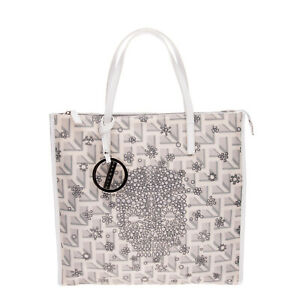 RRP €295 RICHMOND Tote Bag Large Patterned Skull Print Zipped Made in Italy