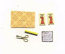 Sewing Set -  dollhouse miniature metal IM65281T 1/12 scale fabric scissors
