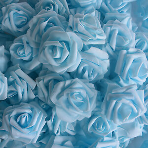 """100PCS 2.8"""" Fake Flowers Artificial Roses for Bouquet Wedding Table Centerpieces"""