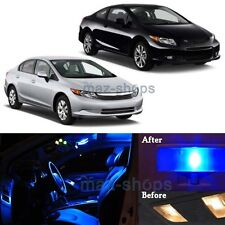 8Pcs Blue Interior LED Lights Package For 2006-2012 Honda Civic Sedan Coupe MP
