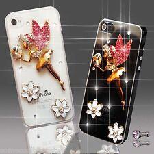 NEW TINKERBEL ANGEL FLOWER DIAMOND CASE COVER 4 SAMSUNG iPHONE SONY HTC 4 5 6 S6