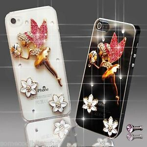 NEW TINKERBEL ANGEL FLOWER DIAMOND CASE COVER 4 SAMSUNG iPHONE SONY HTC 8 9 10