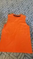Bright Orange Boy's Tank Top Sleeveless Shirt, Fruit of the Loom Size Small 6-7