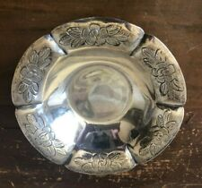 MACIEL MEXICAN SILVER AZTEC ROSE FOOTED BOWL