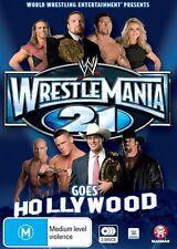 WWE: Wrestlemania 21 BRAND NEW SEALED 3DVD SET! Goes hollywood!!