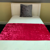 "Crushed Velvet Ombre Bed Runner Diamante Two Tone 78/"" Long Table Mink Champagne"
