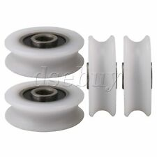 4Pieces Bearing U-Groove Nylon Pulley Wheel Track Roller Replacement Accessory