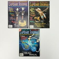 Lot of 3 1999 Lapidary Journal Jewelry Arts Magazines Projects Beadwork & More