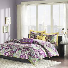 Queen / Full Size Comforter Set Floral 5 Piece Bedding Duvet Cover Melissa New