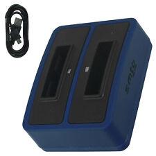 USB - DUAL-Ladegerät SLB-10A für Samsung WB250F, WB251F, WB280F, WB350F, WB500