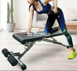 Adjustable Weight Workout Folding Bench Strength Training Fitness Workout Sit up