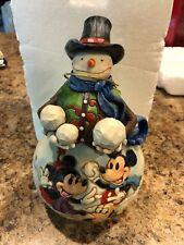Jim Shore Disney Mickey & Minnie Snowman Let It Snow Retired RARE 4039037