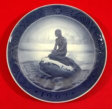 Royal Copenhagen Christmas Collector Plate,1962, Little Mermaid at Wintertime