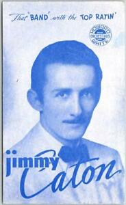 "1940s Omaha Nebraska Advertising Postcard JIMMY CATON ""Band with the Top Ratin"""
