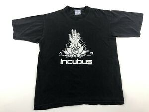 VTG 2000 INCUBUS T-SHIRT Rock Tee Front-Back Prints Black White Sz S