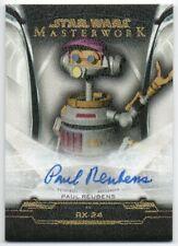 2019 Star Wars Masterwork Autographs Canvas A-PR Paul Reubens RX-24 Auto 23/25