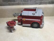 Paw Patrol Marshall's Fire Engine W/Figure Spinmaster Makes Sounds Preowned