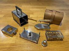 More details for rare antique leather cased spirit burner travel iron