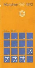"""Olympische Spiele 1972 München Regelheft """"Bogenschießen"""" Otl Aicher OLYMPIADE"""