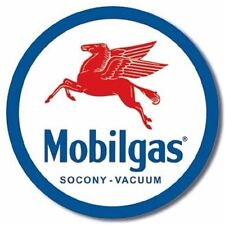Mobilgas Oil Company Round Vintage Retro Metal Tin Sign Garage Bar Pub Wall Deco