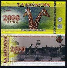 La Savanna 2000 Francs 2015 - Giraffe