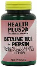 Health Plus Betaine HCL + Pepsin 180 Tablets