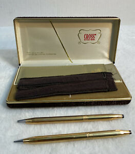 Cross Pen And Pencil Set 1/20 14k Gold Filled For Women With Pen Purse