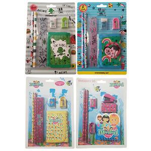 Childrens 6 Piece Stationery Set Writing Boys Girls Kids School Stationary Gift