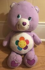 "Care Bears Jumbo Harmony 24"" Plush Purple Bear Big Stuffed Animal Large 2004"