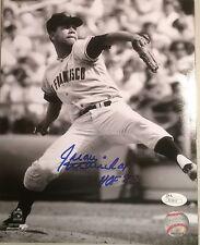 """Juan Marichal """"HOF 83"""" San Francisco Giants Autographed B&W 8x10 w/ JSA COA"""