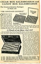 1935 small Print Ad of Concealed Cigar Box & Candy Box Salesboards Punch Board