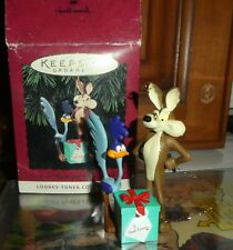 More details for hallmark christmas ornament looney tunes wile coyote road runner boxed figure