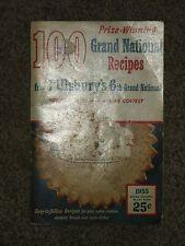 "Vintage 1955 Pillsbury's Grand National Prize Winning Old Recipes 5"" X 8"