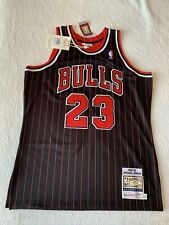 Michael Jordan Mitchell And Ness Authentic Bulls Pinstripe Jersey Size 44