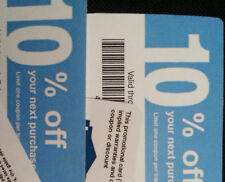 (20) Lowe's Blue Cards Coupons 10% for Home Depot only Expires 8/15/2019 AUGUST
