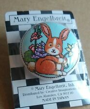 Mary Engelbreit Round Ceramic Drawer Pull Cabinet Knob Rabbit Bunny