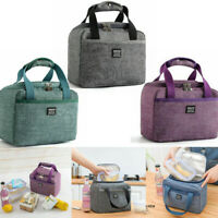 Adult Kids Insulated Lunch Bag Oxford Portable Picnic/Camping Cool Tote Bags JAP