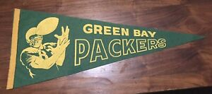 """1960s Vintage Green Bay Packers Football Pennant 29"""""""