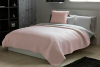 Lightly Quilted Diamond Stictch Bed Runner and or Filled Cushion in Mushroom