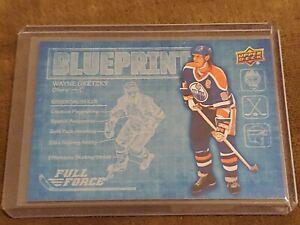 2015-16 UD Full Force Blueprint #BPWG Wayne Gretzky Edmonton Oilers