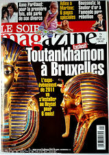 Soir Magazine 26/01/2011; Anne PArillaud/ Boussoufa/ Marcel Marlier/ Toutankhamo